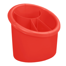 Подставка для столовых приборов овальная (красный) Алеана 167094