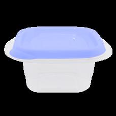"""Контейнер для пищевых продуктов """"Омега"""" квадратный 1 л (сиреневый/прозрачный) Алеана 168011"""