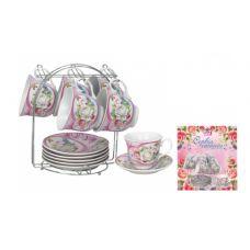 Сервиз чайный на стойке Микс (Pink) 12 предметов SnT 1252