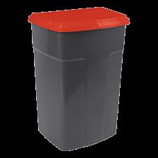 Бак мусорный 90 л (красный) Алеана 122062