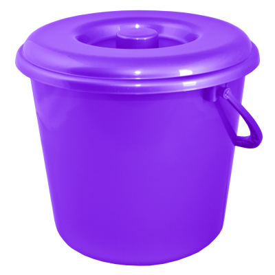Ведро 18 л без крышки (фиолетовый перламутр) Алеана 122018