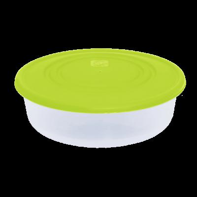 Контейнер для пищевых продуктов круглый 1,7 л (оливковый/прозрачный) Алеана 167035