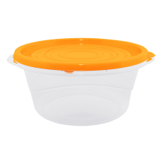 """Контейнер для пищевых продуктов """"Омега"""" круглый 1,75 л (оранжевый/прозрачный) Алеана 167039"""