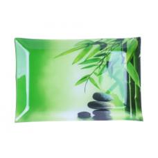 Тарелка прямоугольная Зеленый бамбук 25*15 см SnT 381