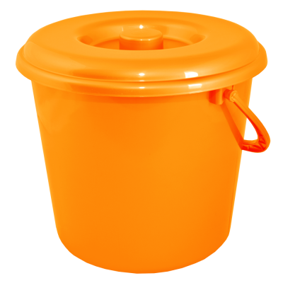 Ведро 10 л без крышки (оранжевый) Алеана 122010