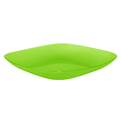 Тарелка 190*190*28 мм 0,5 л (салатовый прозрачный) Алеана 167062