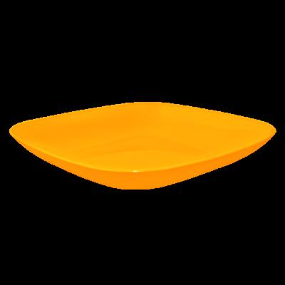 Тарелка 250*250*30 мм 0,9 л (оранжевый прозрачный) Алеана 167063