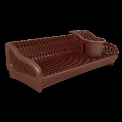 """Сушка для посуды """"2 в 1"""" 53*23*19 мм (темно-коричневый) Алеана 167091"""