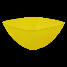 Салатница 120*120*55 мм 0,3 л (жёлтый прозрачный) Алеана 168001