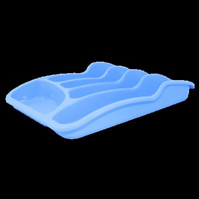 Лоток для столовых приборов 33*25*6,0 см (голубой) Алеана 167095