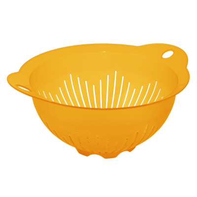 Дуршлаг 22 см (оранжевый прозрачный) Алеана 167401