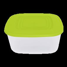 Контейнер для пищевых продуктов квадратный 3 л (оливковый/прозрачный) Алеана 167015