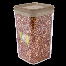 Емкость для сыпучих продуктов 2,25 л (коричневый прозрачный) Алеана 168026