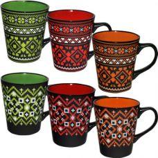 Керамическая чашка Украинский узор 420 мл SnT 2716