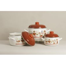 Набор посуды 6 предметов (кастрюли 2,2 л, 4 л, 5,3 л) Metalac 2564 Винтаж