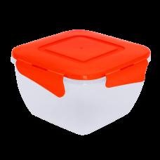 Контейнер для пищевых продуктов квадратный с зажимом 0,9 л Алеана 167052