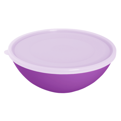 Миска с крышкой 3 л (тёмно-сиреневый/прозрачный) Алеана 167018
