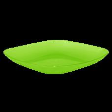 Тарелка 250*250*30 мм 0,9 л (салатовый прозрачный) Алеана 167063