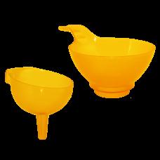 """Набор сливных воронок """"4 в 1"""" (оранжевый прозрачный) Алеана 167208"""