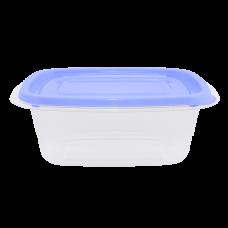 """Контейнер для пищевых продуктов """"Омега"""" прямоугольный 0,7 л (сиреневый/прозрачный) Алеана 167026"""