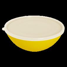 Миска с крышкой 3 л (тёмно-жёлтый/прозрачный) Алеана 167018