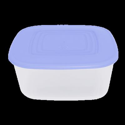 Контейнер для пищевых продуктов квадратный 0,93 л (сиреневый/прозрачный) Алеана 167013
