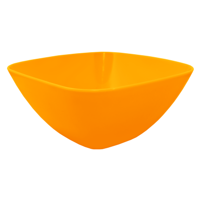 Салатница 240*240*95 мм 2,5 л (оранжевый прозрачный) Алеана 168003