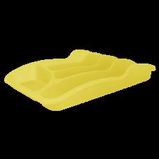 Лоток для столовых приборов 33*25*6,0 см (жёлтый прозрачный) Алеана 167095