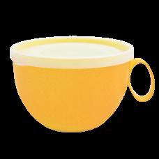 Чашка с крышкой 0,5 л (светло-оранжевый/прозрачный) Алеана 168006