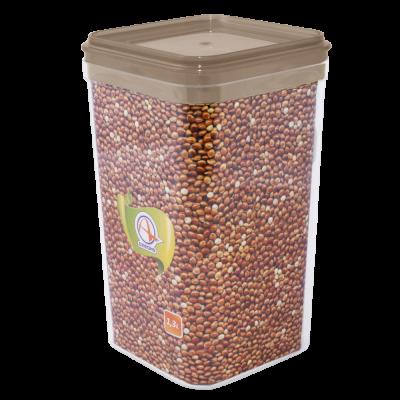 Емкость для сыпучих продуктов 0,6 л (коричневый прозрачный) Алеана 168024