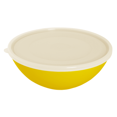 Миска с крышкой 0,8 л (тёмно-жёлтый/прозрачный) Алеана 167016