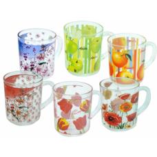 """Чашка стекл. с рисунком """"Микс 2"""" 9304"""