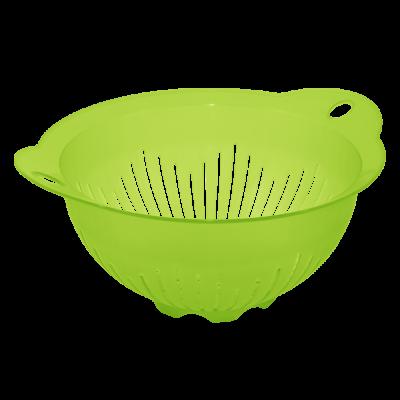 Дуршлаг 22 см (салатовый прозрачный) Алеана 167401