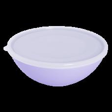Миска с крышкой 0,8 л (сиреневый/прозрачный) Алеана 167016