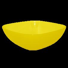 Тарелка глубокая 150*150*55 мм 0,5 л (жёлтый прозрачный) Алеана 167061