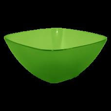 Салатница 120*120*55 мм 0,3 л (салатовый прозрачный) Алеана 168001