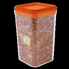 Емкость для сыпучих продуктов 0,6 л (янтарный прозрачный) Алеана 168024