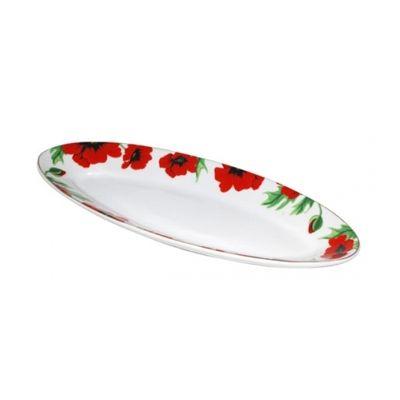 Тарелка для рыбы Красный Мак 30,4*11,8*3 см SnT 30825