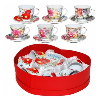 Сервиз чайный Цветы 12 предметов SnT 151-00
