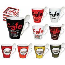"""Чашка с ложкой """"Кофе"""" 2063"""
