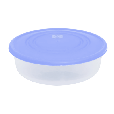 Контейнер для пищевых продуктов круглый 0,55 л (сиреневый/прозрачный) Алеана 167033