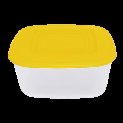 Контейнер для пищевых продуктов квадратный 3 л (тёмно-желтый/прозрачный) Алеана 167015