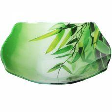 Салатник квадратный с круглым краем Зеленый Бамбук SnT 393