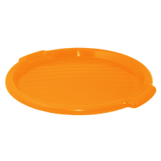 Поднос круглый 39 см (оранжевый прозрачный) Алеана 167098