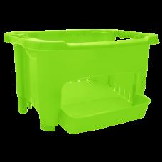 Корзина для хранения овощей (салатовый прозрачный) Алеана 122077