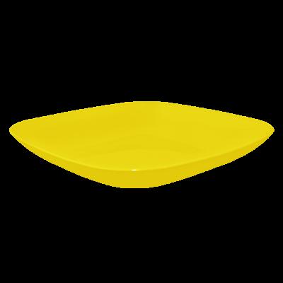 Тарелка 250*250*30 мм 0,9 л (тёмно-жёлтый) Алеана 167063
