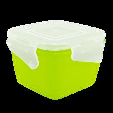 """Контейнер универсальный прямоугольный """"Фиеста"""" 1,5 л (оливковый/прозрачный) Алеана 168042"""