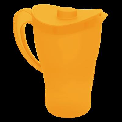 Кувшин с крышкой 2 л (оранжевый прозрачный) Алеана 168033
