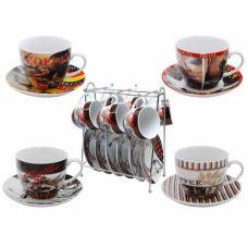 Сервиз на стойке Кофе 80 мл 12 предметов SnT 1042