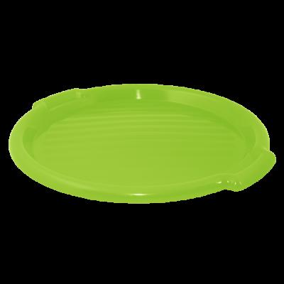 Поднос круглый 39 см (салатовый прозрачный) Алеана 167098